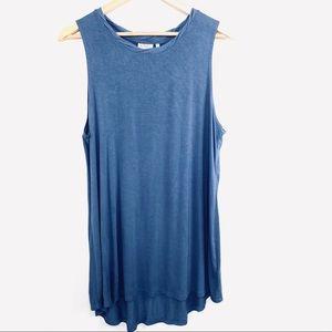 LOGO blue knit sleeveless tunic size large